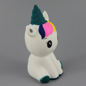 Jumbo Squishy Beautiful Unicorn Relieve Stress Toys 1PC - multicolor L