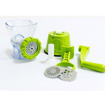 Manual Meat Grinder with Plastic Handle - ALIEN GREEN