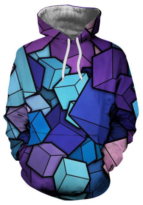 2018 Automne Nouveau Mode Impression 3D Sweat à Capuche - multicolor M