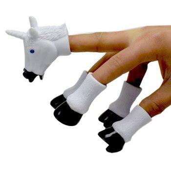 Unicorn Pegasus Finger Toy Children Telling Stories Before Going To Bed - BLACK