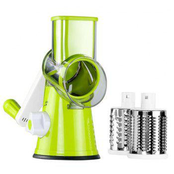 Multifunctional Hand Roller Rotary Vegetable Cutter - GREEN