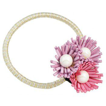 Pinkycolor Flower Shape Bead Elastic Hairband - MAUVE
