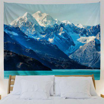 Glacier Bay Mountains 3D Printing Home Wall Hanging Tapestry for Decoration - multicolor W153CMXL130CM