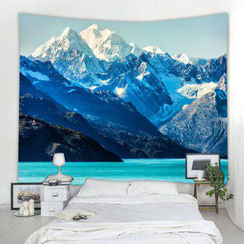 Glacier Bay Mountains 3D Printing Home Wall Hanging Tapestry for Decoration - multicolor W200CMXL180CM