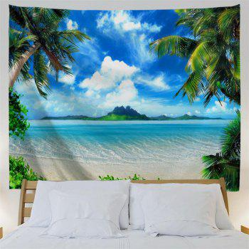 Blue Skycloudscoconut Tree 3D Printing Home Wall Hanging Tapestry for Decoration - multicolor W203CMXL153CM