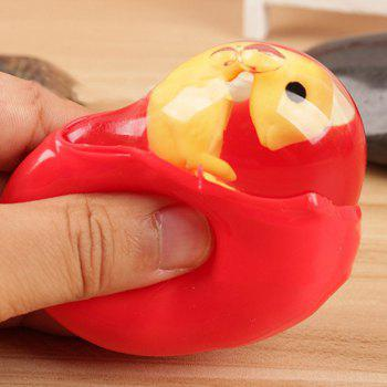 Jumbo Squishy Cute Dinosaur Egg Squeeze Toy - RED