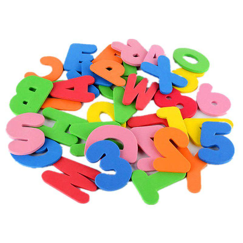 Baby Foam Letter and Numbers Stickers Water Stickers Toy 36PCS - multicolor