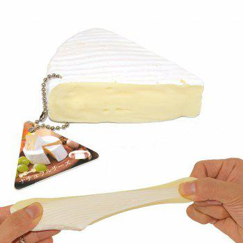 Cheese Squeeze Toy Jumbo Squishy Stretch Creative Gift - WHITE