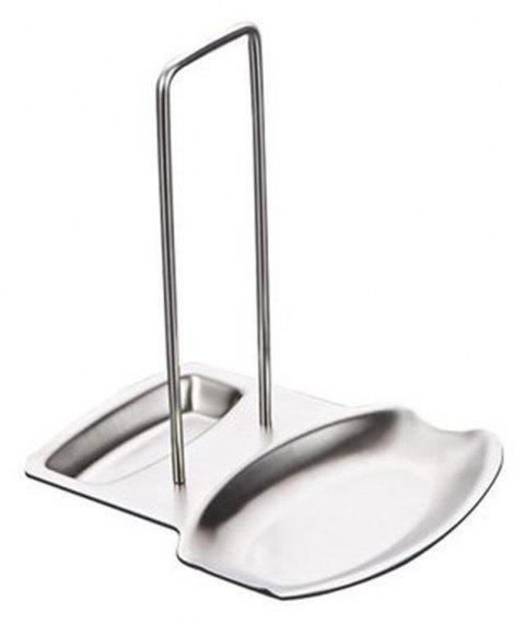 YEDUO  Pan Pot Rack Cover Lid Rest Stand Spoon Holder Home Kitchen Accessorie - SILVER