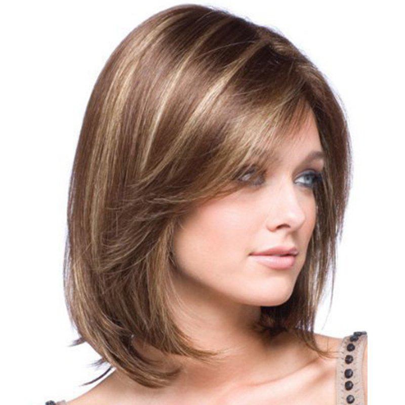 Gold Gradients Straight Short Wig - SEPIA 14INCH