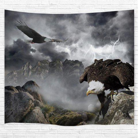 Eagle 3D Printing Home Wall Hanging Tapestry for Decoration - multicolor W230CMXL180CM