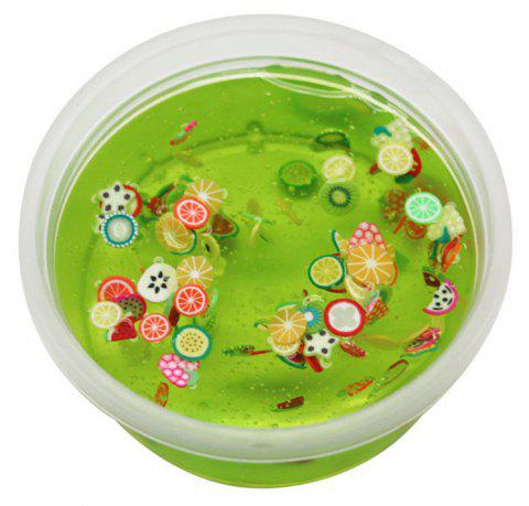 DIY Fruit Slices Mixed Soft Clay Supplies Crystal Mud for Kid Stress Relief Toy - GREEN