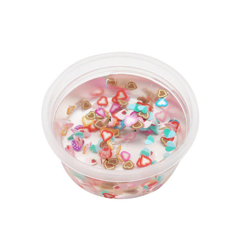 DIY Fruit Slices Mixed Soft Clay Supplies Crystal Mud for Kid Stress Relief Toy - TRANSPARENT