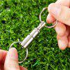 Pull-apart Key Removable Handy Keyring with Two Split Rings - SILVER
