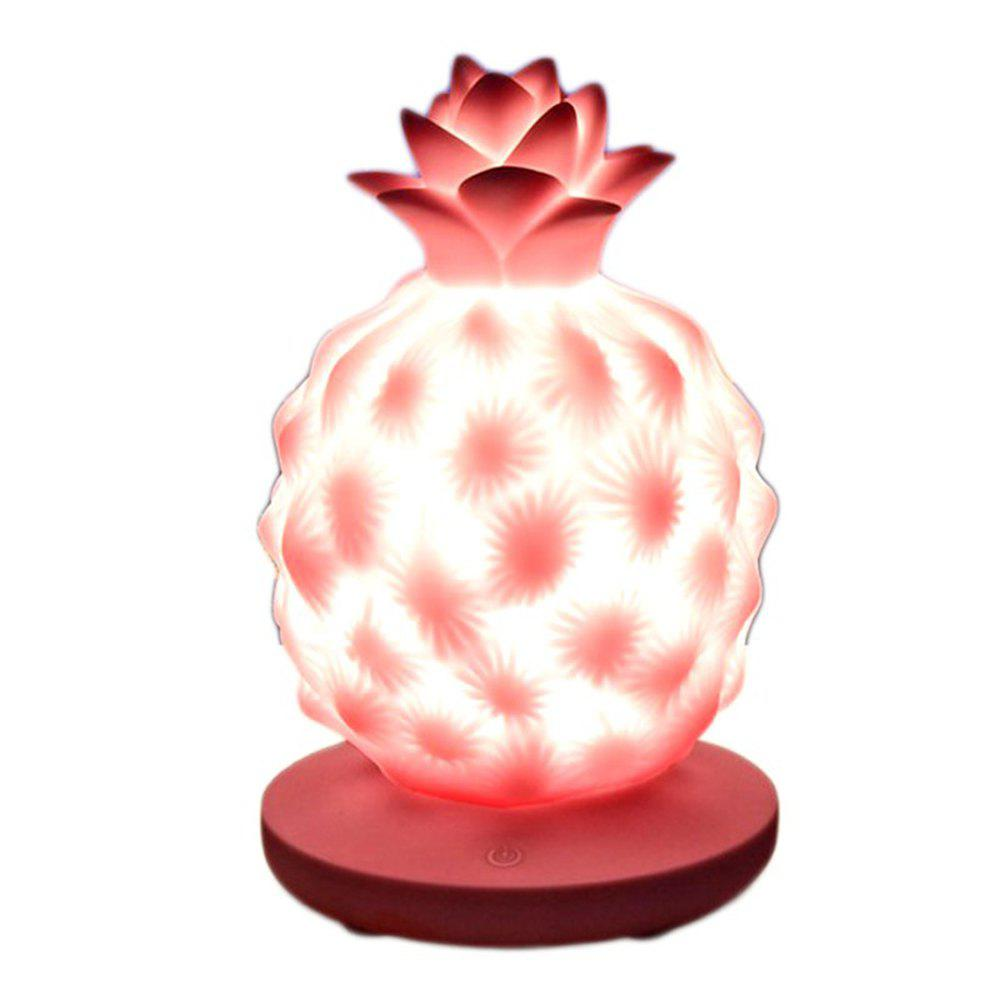 Creative Home USB Touch Dimming Children LED Silicone Night Light - PINK BUBBLEGUM