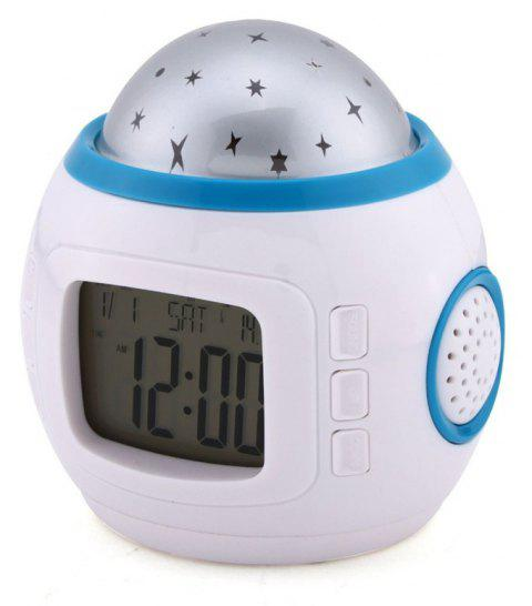 Star Music Projector Calendar Color Creative LED Night Light Toys - WHITE