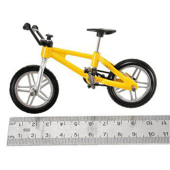 Creative Simulation Mini Alloy Bicycle Finger Forklift Toy - YELLOW