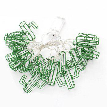 Cactus Shaped 1.5M 10 LED Fairy String Light for  Home Decoration - GREEN
