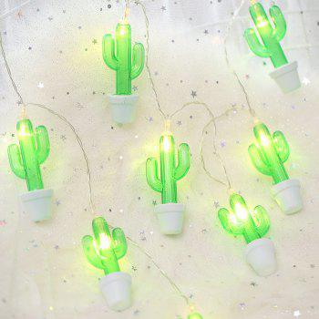 Cactus Potted Plant 1.5M 10 LED Fairy String Light for  Home Decoration - multicolor