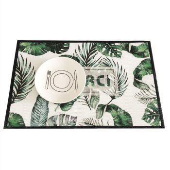 Fashion Waterproof Tableware Pad Dining Table Mat - multicolor C