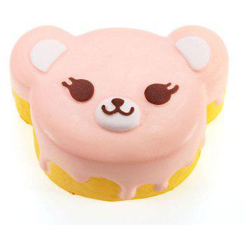 Jumbo Squishy Bear Gâteau Slow Rising Collection cadeau décoration Soft Squeeze Toy - Rose