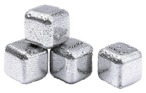 Whiskey Stones Ice Cubes Soapstone Glacier Cooler Stone - SILVER