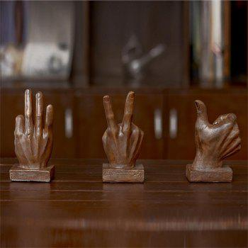 Living Room Craft Desktop Decoration Resin Creative Modeling Finger Ornament - multicolor A