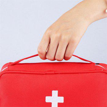 Household Outdoor Travel Portable Mobile Emergency Medical Storage Bag - RED