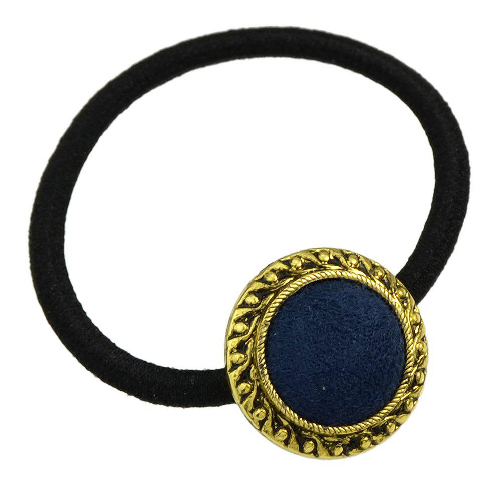 2018 Elastic Hairband With Colorful Beads Decoration Lapis Blue In Hair Band