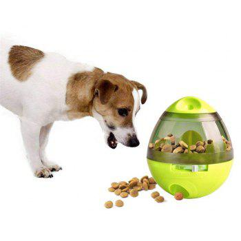 Treat Ball Dog Toy for Pet Increases IQ Interactive Food Dispensing Ball - GREEN