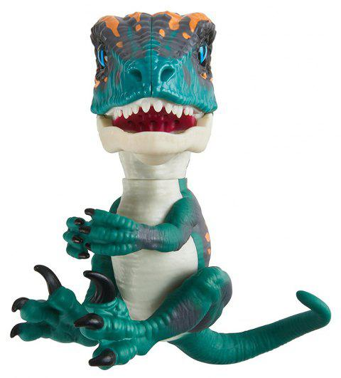 Electronic Smart Interactive Learning Dinosaur Pet Toy for Kids - MACAW BLUE GREEN
