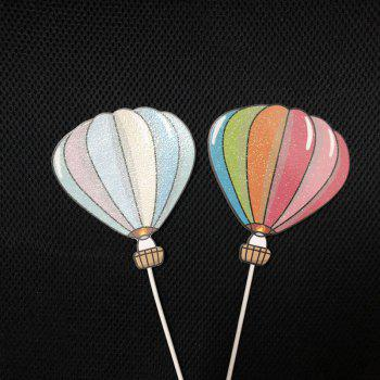 1 Set Cloud Colorful Hot Air Balloon Rainbow Baking Cake Decoration Flag - multicolor B