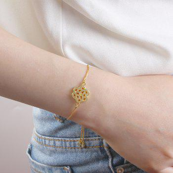 Individualité Rose Micro Bracelet incrusté - Or