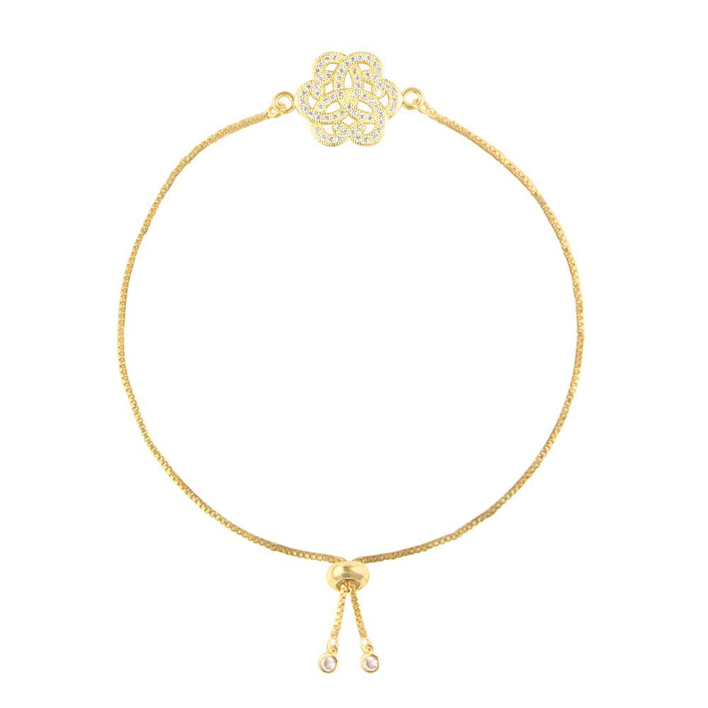 Individuality Rose Micro Inlay Bracelet - GOLD