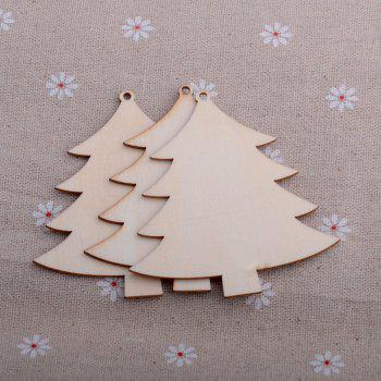 10PC/PACK Crafts Christmas Decoration Pendant Wood Chips - BURLYWOOD