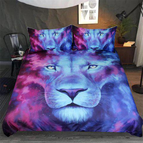 High Quality 3D Lion Three-Piece - multicolor QUEEN