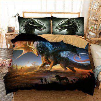 High Quality 3D Color Pterosaur Three-Piece - multicolor QUEEN