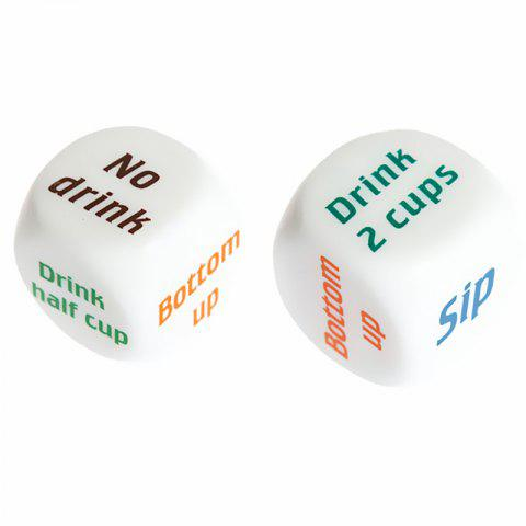 Cute Dice Interactive Entertainment Toy 2PCS - WHITE