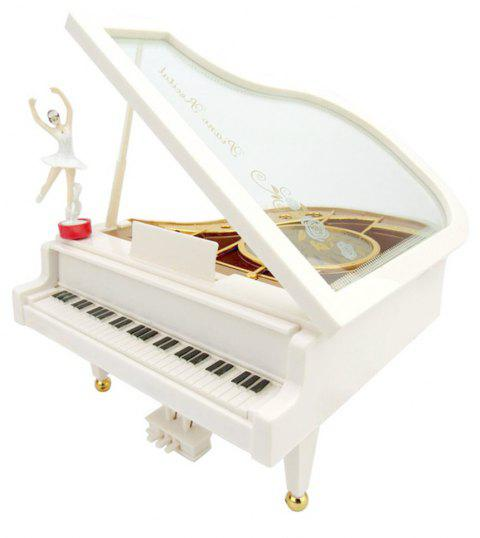 Cadeau de la Saint-Valentin Rotation Ballet Clockwork Dancing Girl Piano Music Box - multicolor B SIZE L