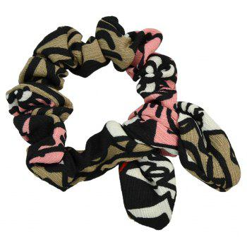 Colorful Printed Bowknot Shape Headband - multicolor A