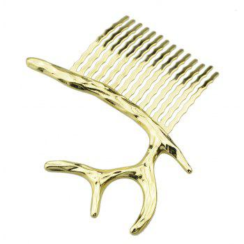Gold Silver Color Geometric Antlers Hair Combs - GOLD