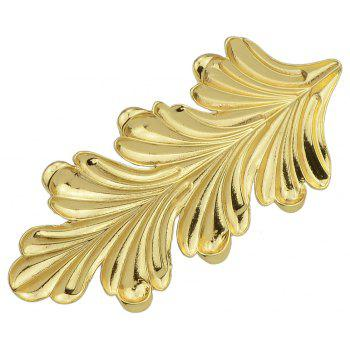 Gold Color Big Leaf Hairpin Hair Jewelry - GOLD