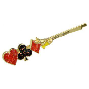 Colorful Enamel Playing Card Design Hairpin - multicolor B