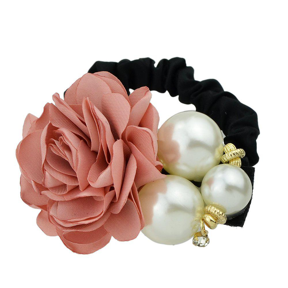 Black Elastic Rope with Colorful Flower Headband - ROSE