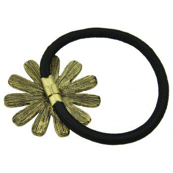 Elastic Rope with Colorful Enamel Flower Headband - YELLOW