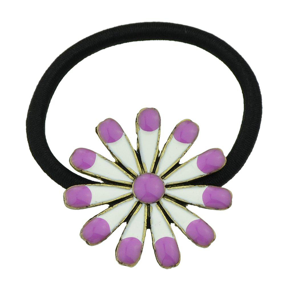 2018 Elastic Rope With Colorful Enamel Flower Headband Purple