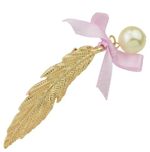 Gold Silver Color Long Leaf Bowknot Hairpin - GOLD