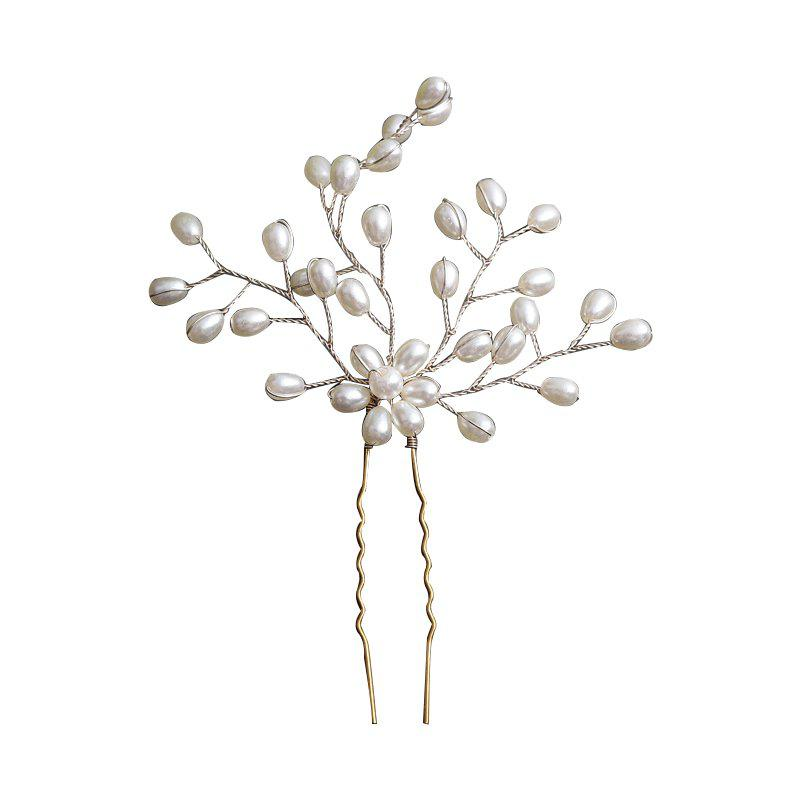 A New Type of Hand Made Auger Head Decoration Alloy Hairpin - WARM WHITE