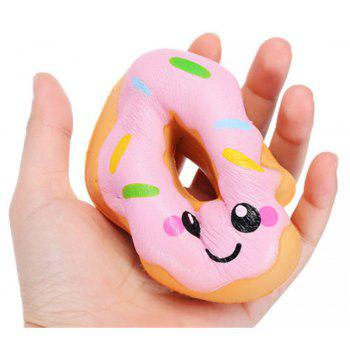 Jumbo Squishy Kawaii Smiling Face Donut Slowly Rising Decompression Toy - PINK