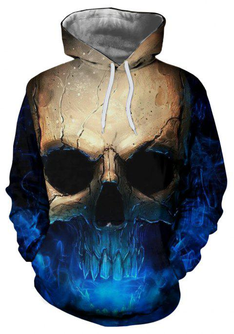 Sweat à capuche imprimé 3D New Skull pour homme - multicolor 2XL